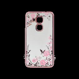 Huawei nova plus - Gumiran ovitek (TPUE) - roza rob - roza rožice