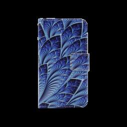 Samsung Galaxy J1 (2016) - Preklopna torbica (WLGP) - Blue leafs