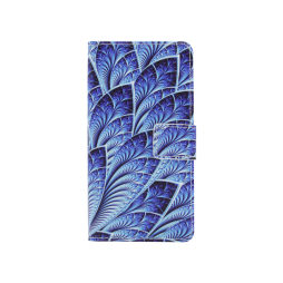 Huawei Honor 8 - Preklopna torbica (WLGP) - Blue leafs