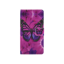Sony Xperia XA - Preklopna torbica (WLGP) - Purple butterfly