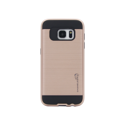 Samsung Galaxy S7 - Gumiran ovitek (ARM-01) - roza-zlat