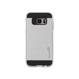 Samsung Galaxy S7 Edge - Gumiran ovitek (ARM-01) - srebrn
