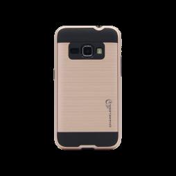 Samsung Galaxy J1 (2016) - Gumiran ovitek (ARM-01) - roza-zlat