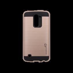 LG K10 - Gumiran ovitek (ARM-01) - roza-zlat
