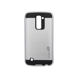 LG K10 - Gumiran ovitek (ARM-01) - srebrn