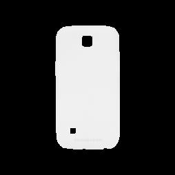 LG K3 - Gumiran ovitek (TPUM) - belo-prosojen mat