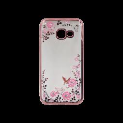 Samsung Galaxy A3 (2017) - Gumiran ovitek (TPUE) - roza rob - roza rožice