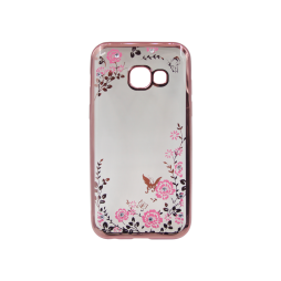 Samsung Galaxy A5 (2017) - Gumiran ovitek (TPUE) - roza rob - roza rožice
