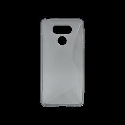 LG G6 - Gumiran ovitek (TPU) - sivo-prosojen SLine