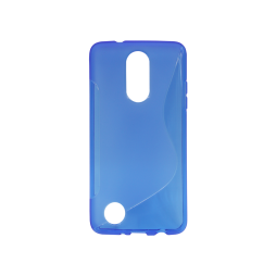 LG K8 (2017) / K4 (2017) - Gumiran ovitek (TPU) - modro-prosojen SLine