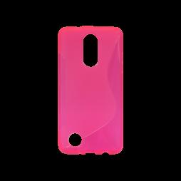 LG K8 (2017) / K4 (2017) - Gumiran ovitek (TPU) - roza-prosojen SLine