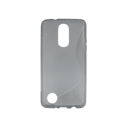 LG K8 (2017) / K4 (2017) - Gumiran ovitek (TPU) - sivo-prosojen SLine