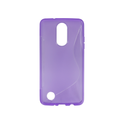 LG K8 (2017) / K4 (2017) - Gumiran ovitek (TPU) - vijolično-prosojen SLine