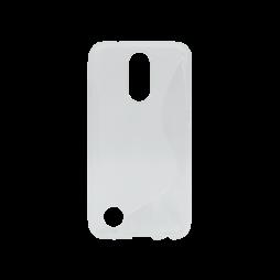 LG K10 (2017) - Gumiran ovitek (TPU) - belo-prosojen SLine