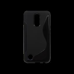LG K10 (2017) - Gumiran ovitek (TPU) - črn SLine