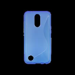 LG K10 (2017) - Gumiran ovitek (TPU) - modro-prosojen SLine