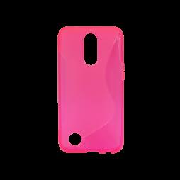 LG K10 (2017) - Gumiran ovitek (TPU) - roza-prosojen SLine