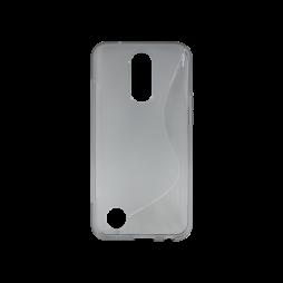 LG K10 (2017) - Gumiran ovitek (TPU) - sivo-prosojen SLine
