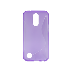 LG K10 (2017) - Gumiran ovitek (TPU) - vijolično-prosojen SLine