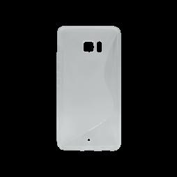 HTC U Ultra - Gumiran ovitek (TPU) - sivo-prosojen SLine