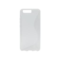 Huawei P10 - Gumiran ovitek (TPU) - belo-prosojen SLine
