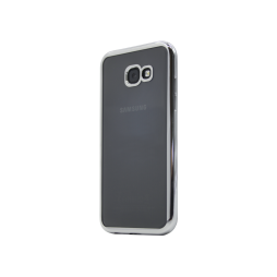 Samsung Galaxy A3 (2017) - Gumiran ovitek (TPUE) - rob srebrn