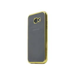 Samsung Galaxy A3 (2017) - Gumiran ovitek (TPUE) - rob zlat
