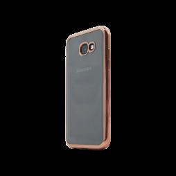Samsung Galaxy A5 (2017) - Gumiran ovitek (TPUE) - rob roza-zlat