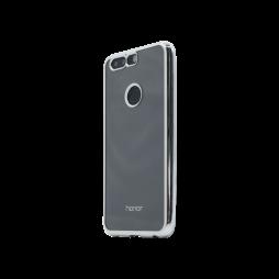 Huawei Honor 8 - Gumiran ovitek (TPUE) - rob srebrn