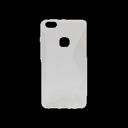 Huawei P10 Lite - Gumiran ovitek (TPU) - belo-prosojen SLine