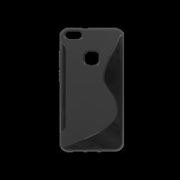 Huawei P10 Lite - Gumiran ovitek (TPU) - črn SLine