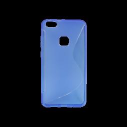 Huawei P10 Lite - Gumiran ovitek (TPU) - modro-prosojen SLine
