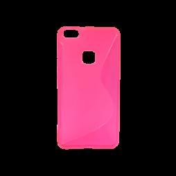 Huawei P10 Lite - Gumiran ovitek (TPU) - roza-prosojen SLine