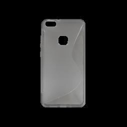 Huawei P10 Lite - Gumiran ovitek (TPU) - sivo-prosojen SLine