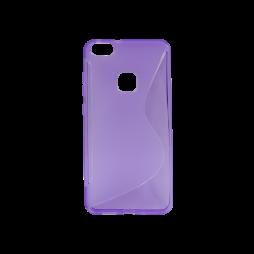Huawei P10 Lite - Gumiran ovitek (TPU) - vijolično-prosojen SLine