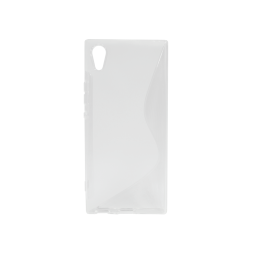 Sony Xperia XA1 - Gumiran ovitek (TPU) - belo-prosojen SLine