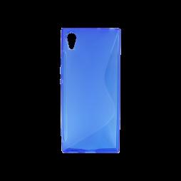 Sony Xperia XA1 - Gumiran ovitek (TPU) - modro-prosojen SLine