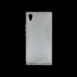 Sony Xperia XA1 - Gumiran ovitek (TPU) - sivo-prosojen SLine