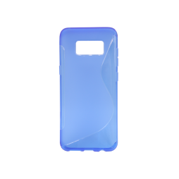 Samsung Galaxy S8 - Gumiran ovitek (TPU) - modro-prosojen SLine