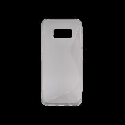 Samsung Galaxy S8 - Gumiran ovitek (TPU) - sivo-prosojen SLine