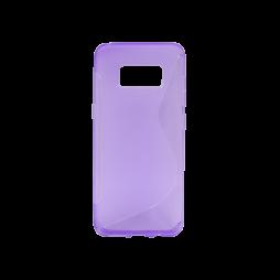 Samsung Galaxy S8 - Gumiran ovitek (TPU) - vijolično-prosojen SLine