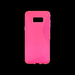 Samsung Galaxy S8+ - Gumiran ovitek (TPU) - roza-prosojen SLine