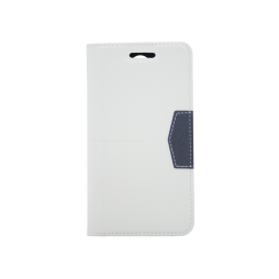 LG K8 (2017) - Preklopna torbica (47G) - bela