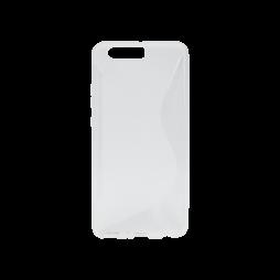 Huawei P10 Plus - Gumiran ovitek (TPU) - belo-prosojen SLine