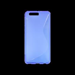 Huawei P10 Plus - Gumiran ovitek (TPU) - modro-prosojen SLine