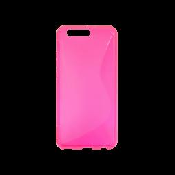 Huawei P10 Plus - Gumiran ovitek (TPU) - roza-prosojen SLine