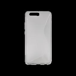 Huawei P10 Plus - Gumiran ovitek (TPU) - sivo-prosojen SLine