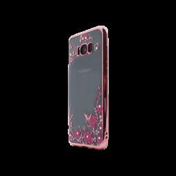 Samsung Galaxy S8 - Gumiran ovitek (TPUE) - roza rob - roza rožice