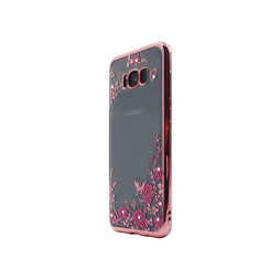 Samsung Galaxy S8+ - Gumiran ovitek (TPUE) - roza rob - roza rožice