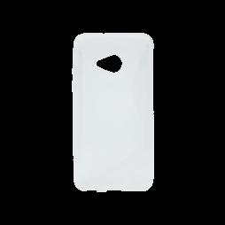 HTC U Play - Gumiran ovitek (TPU) - belo-prosojen SLine